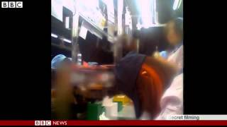 BBC News   Secret video of exhausted workforce  in Chinese factory making Apple products