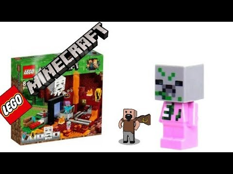 Review: Baby Pigman LEGO microfigure, LEGO Minecraft 2018 sets, The ...