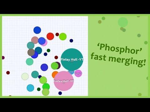 Agar.io - 'Phosphor' fast merging server!
