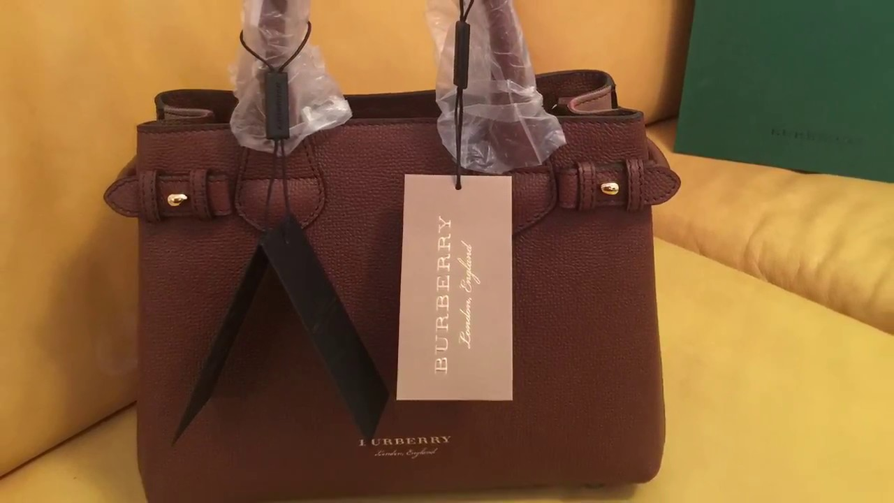 Burberry Banner Tote Handbag Box Opening And Review