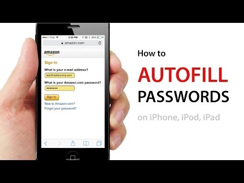 How to AUTOFILL PASSWORDS on W...