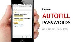 How to AUTOFILL PASSWORDS on Websites on iPhone, iPod, iPad using iOS7