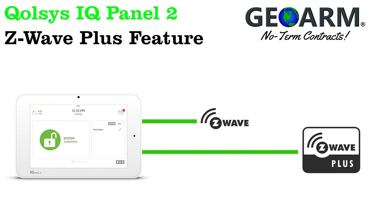 Qolsys IQ Panel 2: Z-Wave Plus Feature