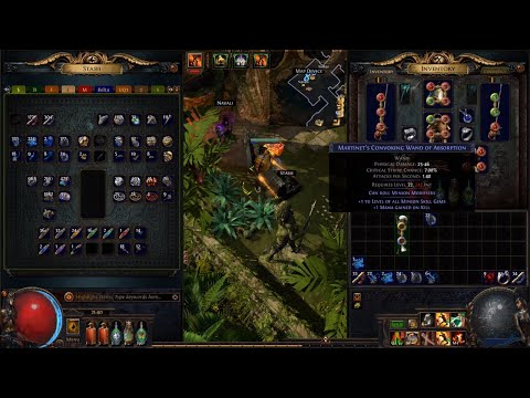 PoE 3.8 Blight Necromancer Minion Build - Best Convoking Wand - Crafting Guide