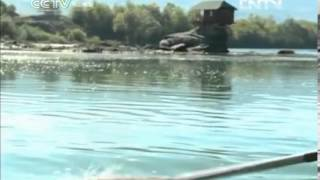 House on the Drina River attracting curious travelers