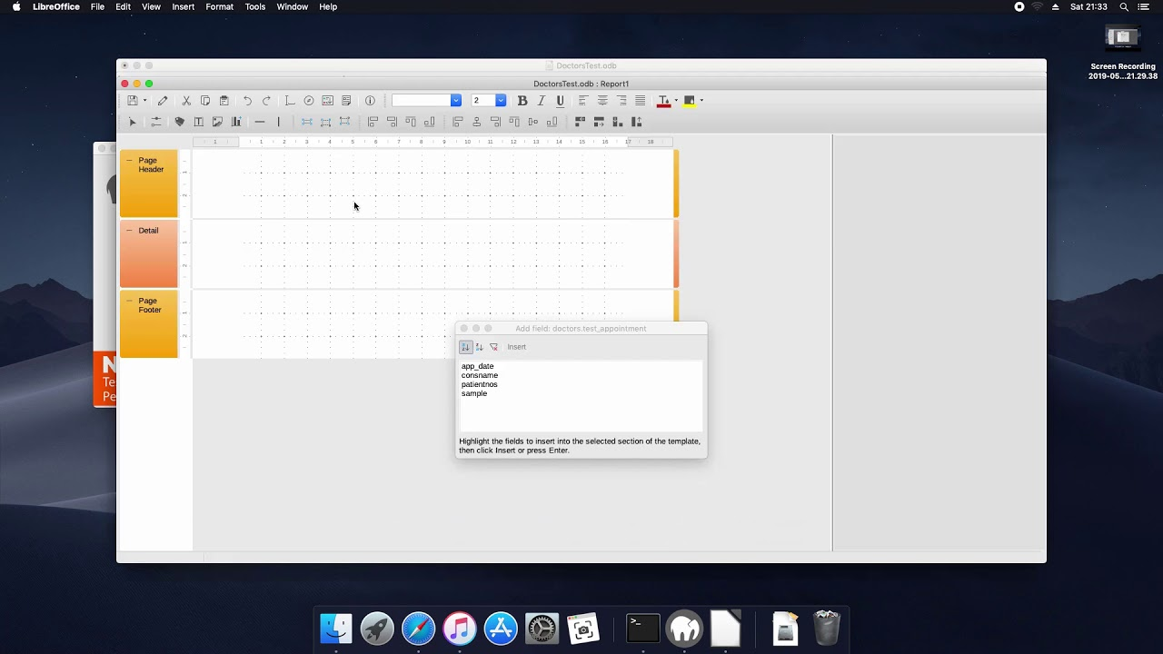 LibreOffice Base Reports On Mac - YouTube
