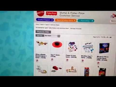 Handy Website For Mattel/Fisher Price Board Games Instruction Manuals  - Resellers Tips