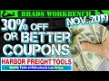 BEST Harbor Freight Coupons & NEW TOOLS!!! November 2019