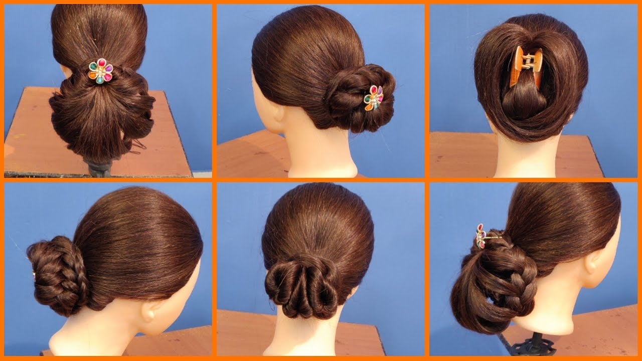 part 25 | 5 different bun hairstyles on mannequin head | hairstyle tutorial