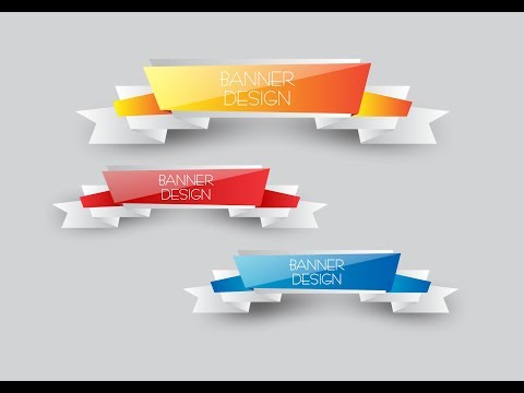 Banner Vector Design in CorelDraw x7 with as graphics