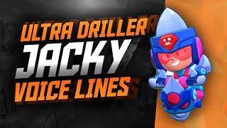 ULTRA DRILLER JACKY Voice Lines   Brawl Stars