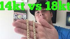 Comparing 14kt vs 18kt GOLD