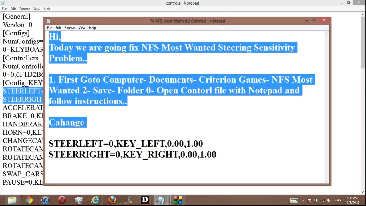 Nfs Most Wanted 2 Steering Sensitivity Fix Youtube