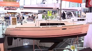 2016 Beneteau Oceanis 31 Sailing Yacht - Hull, Deck Interior Walkaround - 2015 Salon Nautique Paris