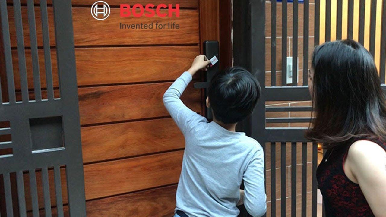 Cùng Trải Nghiệm Khóa Cửa Điện Tử Bosch với Rất Nhiều Khách Hàng trên Cả Nước || Bosch Smart Lock