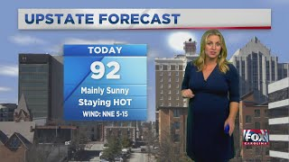 Sunny and hot today, with a cool down coming midweek