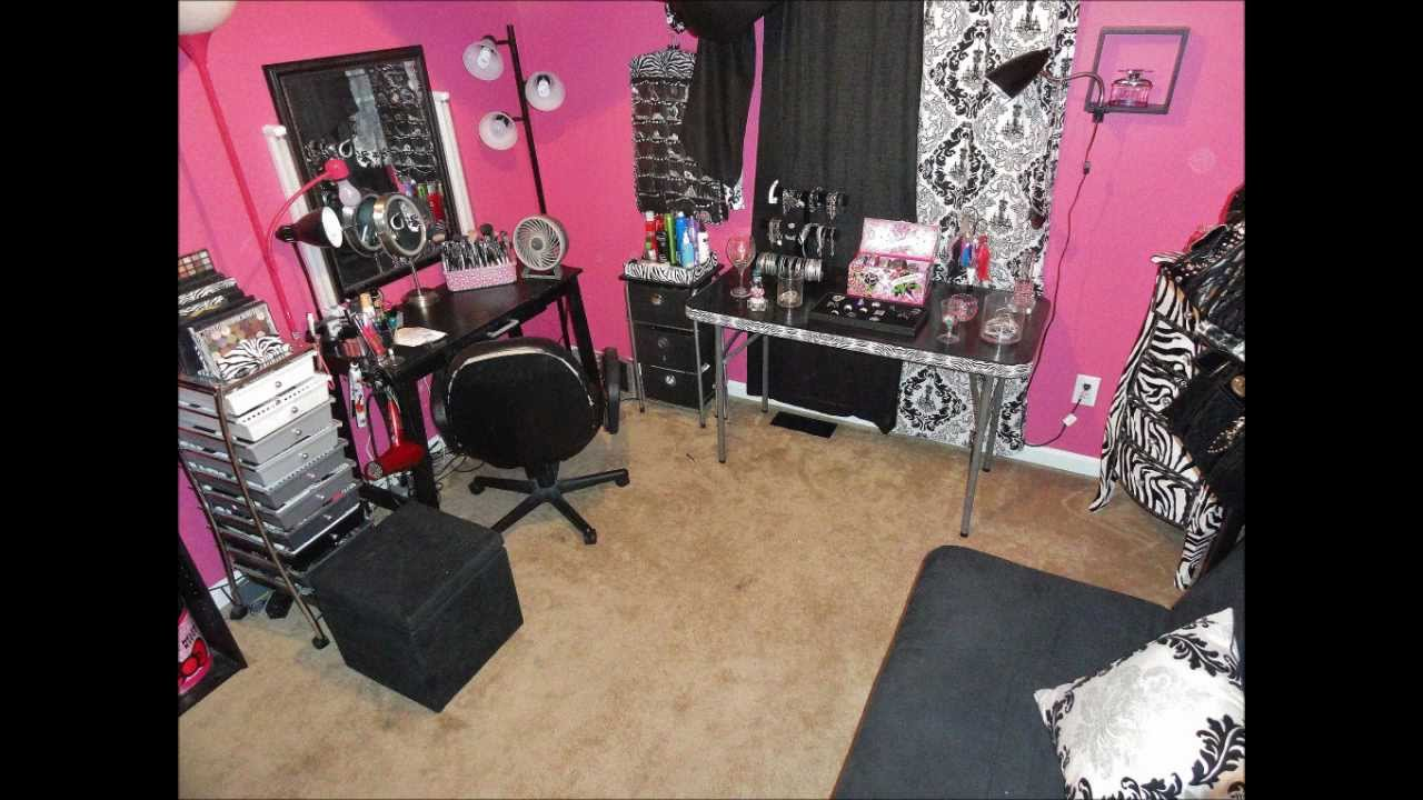 My Updated Makeup Room Pink Or Zebra Lovers Youtube