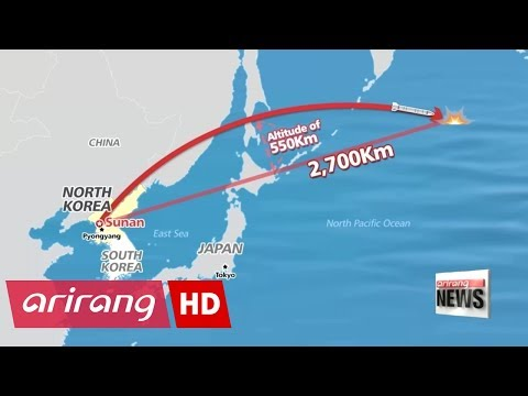 North Korea fires ballistic missile directly over Japan