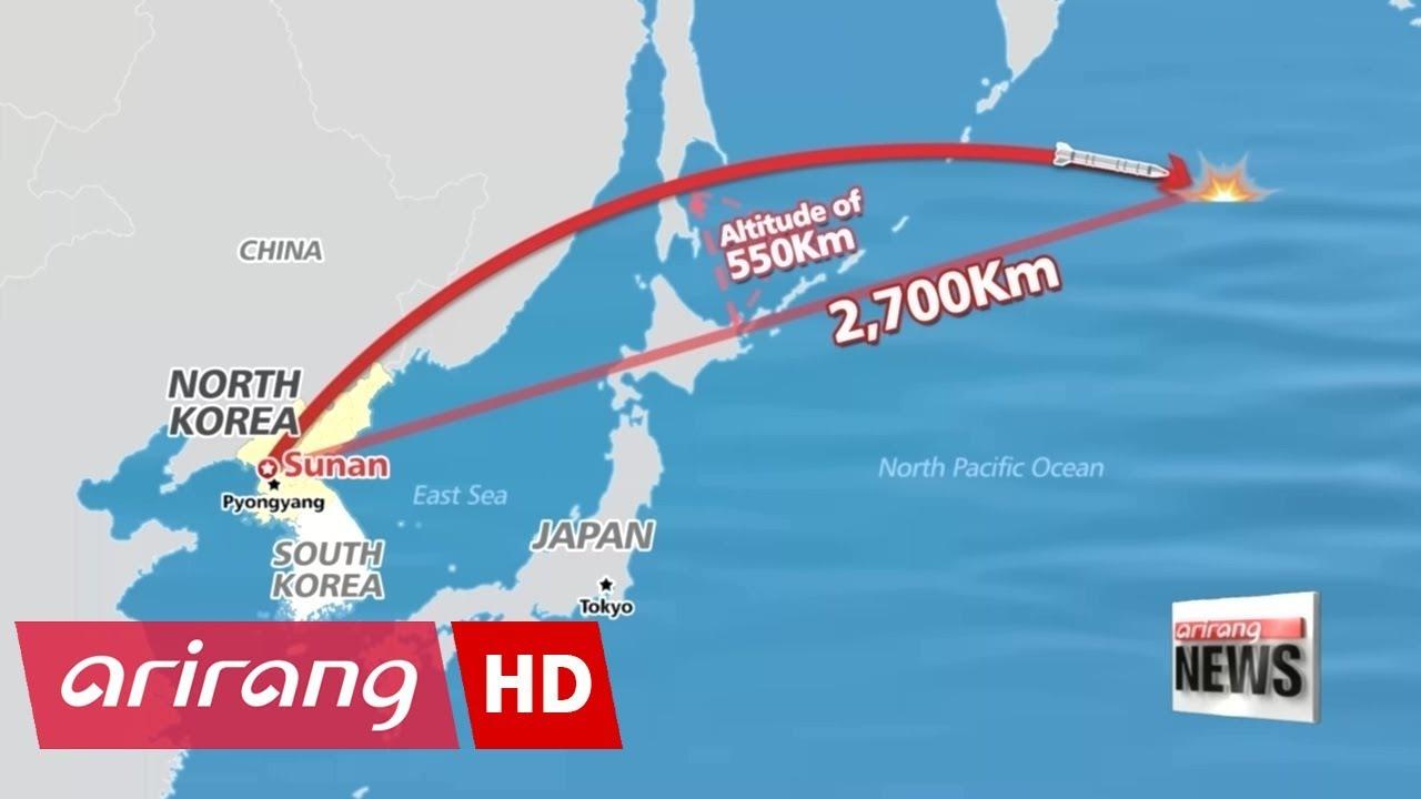 North Korea fires ballistic missile directly over Japan