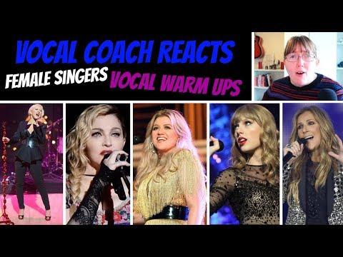 Female Singers &39;Vocal Warm Up&39;s Reaction&39; Celine Dion Madonna Kelly Clarkson Selena & Taylor