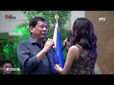 Duterte sings 'Ikaw' with Jonalyn Viray