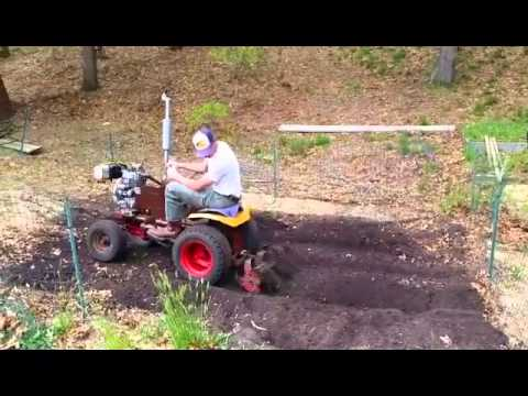 Bolens 1050 Garden Tractor Diesel Engine Swap Tiller