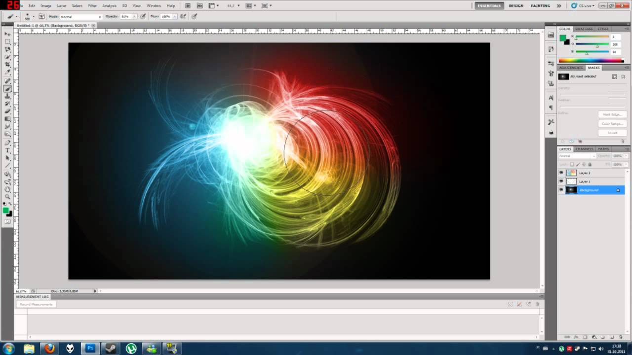photoshop fast tutorial neon colors youtube