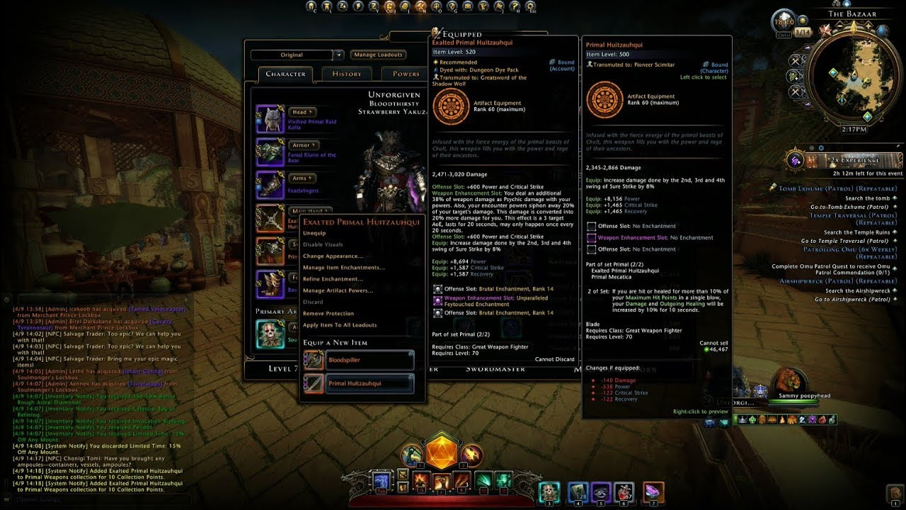 Neverwinter Mod 13 - Exalting Weapons Tips And Progress Unforgiven GWF (1080p)