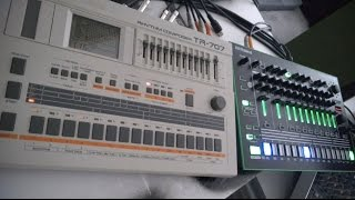 roland tr 707 vs aira tr 8 7x7 hq stereo audio demo