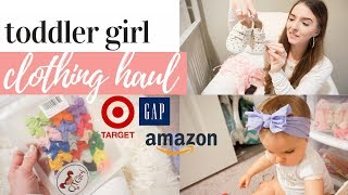 HUGE TODDLER GIRL CLOTHING HAUL 2019   CUTE BABY CLOTHES + BOWS FOR SPRING