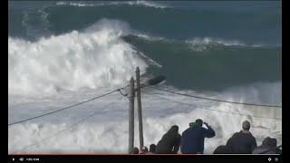 BIGGEST WAVE EVER RIDDEN? Francisco Porcella /// Nazaré /// February 27, 2017