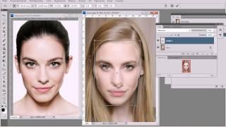урок Photoshop cs5 N1. Замена лица.(В этом уроке вы научитесь делать близняшек.То,есть заменить лицо одного человека на другого.http://www.youtube.com/watch..., 2013-08-16T12:57:08.000Z)