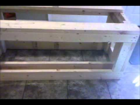 diy 125 gallon fish tank stand number 2 youtube