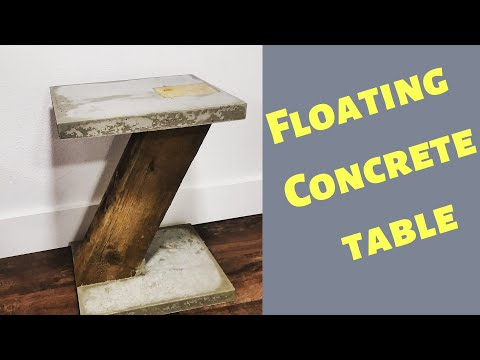 DIY cantilevered  end table