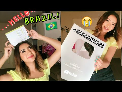 BRAZIL TRIP UPDATE! How Much Will It Cost? + Unboxing My YouTube Play Button!
