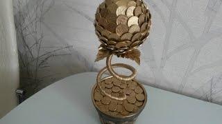 как сделать дерево из монет