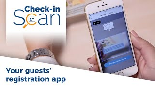 Check-in Scan App: 2 guests checked in 1 minute