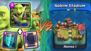 Clash Royale   GOBLIN GANG + CLONE TROLLING ARENA 1!   *FUNNY MOMENTS* (Drop Trolling #62)