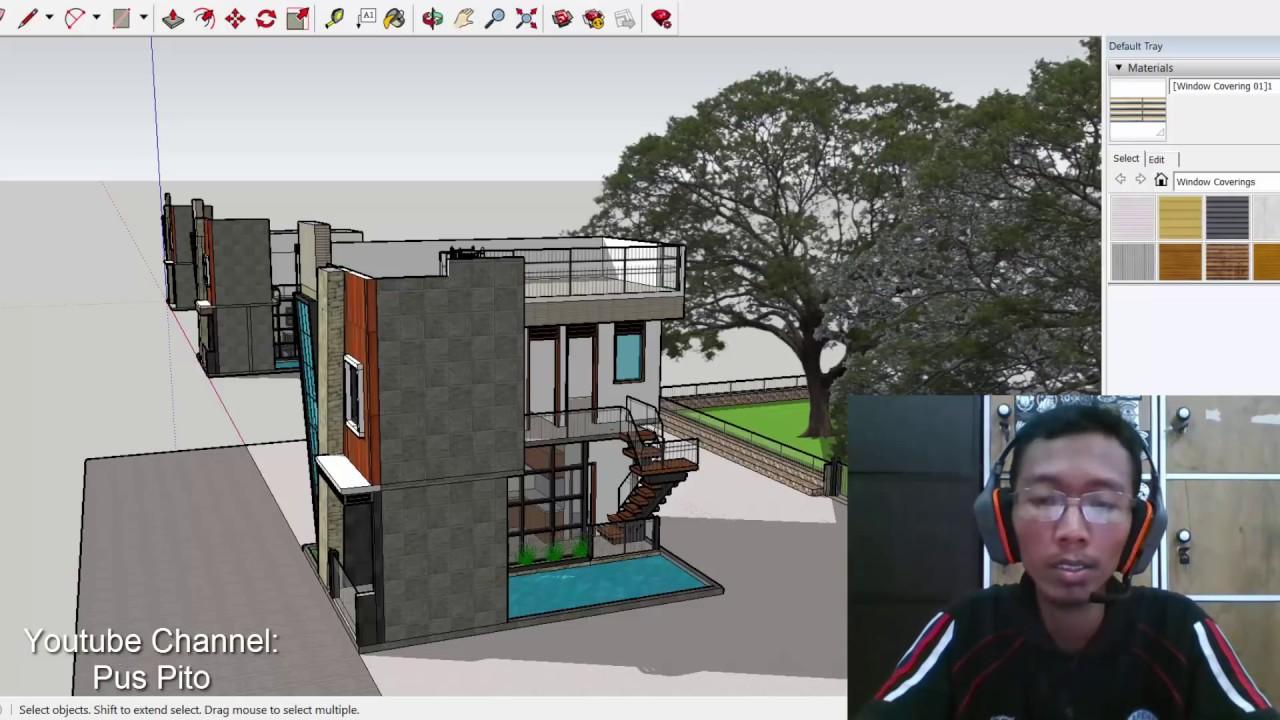 Masuk akal kah Desain Rumah ukuran 6x8m 2 lantai  kolam