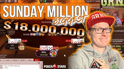 $18.000.000 POKER TURNIER | Sunday Million Stream Highlights