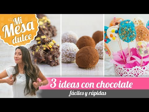 3 EASY IDEAS WITH CHOCOLATE | PAM'S SWEETS TABLE | Quiero Cupcakes!