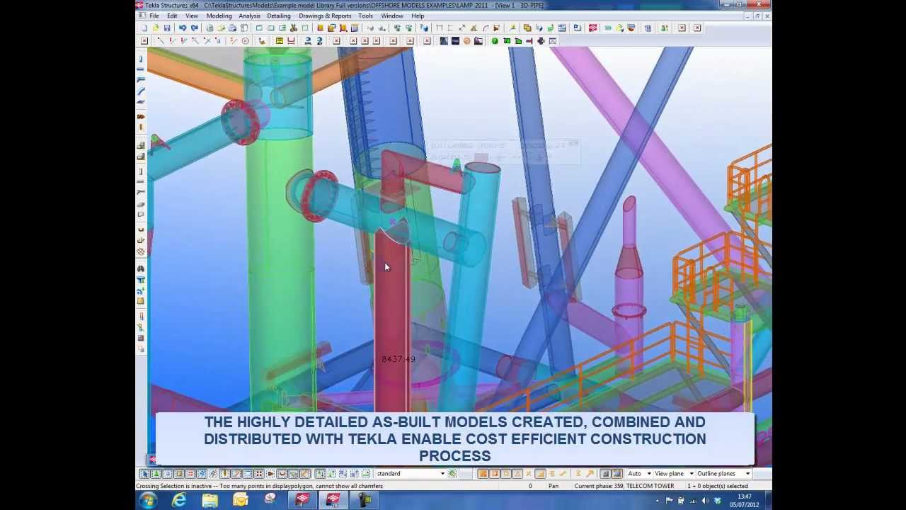 Tekla advanced 3d software for offshore construction for 3d construction design software