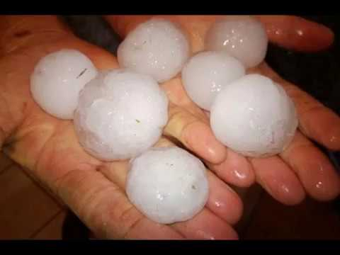 Hailstorm in Johannesburg, State of Gauteng , South Africa, severe weather