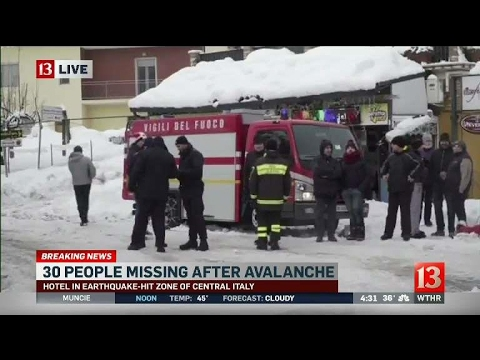 30 missing inside Italian hotel hit by avalanche