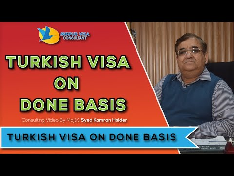 Turkey tourist visa on Done Basis