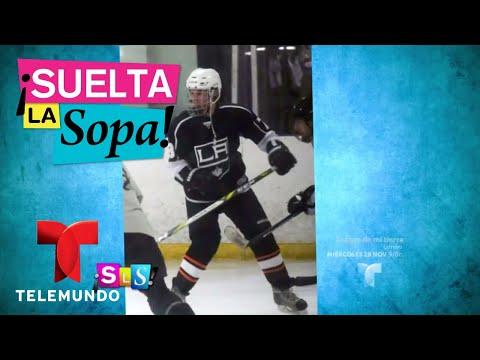 Selena Gómez llegó a partido de hockey para apoyar a Justin Bieber