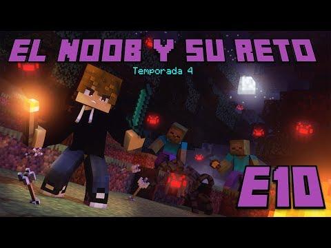 NOCHE DE MONSTRUOS EN MINECRAFT! E10 El Noob y su Reto 4 - Luzu