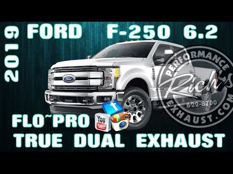 2019 Ford F-250 6.2 True Dual Performance Exhaust-Flo~Pro Big Oval-By Rich's