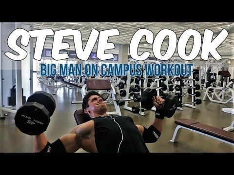 Hardgainers 2 - Episode 3 - Steve Cook Big Man On Campus Workout - Chest, Triceps, Abs