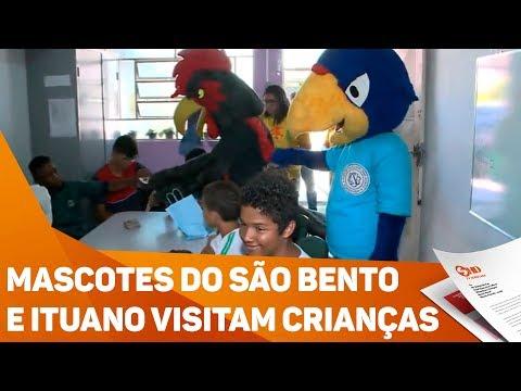 Mascotes do São Bento e Ituano visitam crianças - TV SOROCABA/SBT
